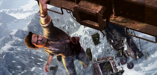 Uncharted 2: Hanging from a train