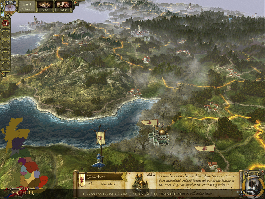 King Arthur: The Roleplaying Wargame - The campaing map